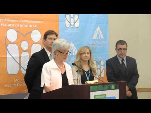 HHS Secretary Sebelius speaking at Mountain Park Health Center