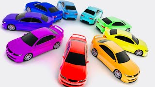 AMKETYA Learn Color of Small Car on the Slime