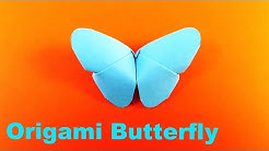 How To Make an Easy Origami Butterfly in 3 MINUTES!