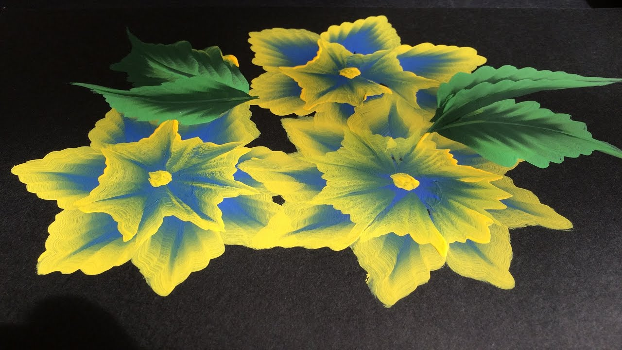 one stroke painting-paint with me 3d flowers - youtube