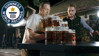Most beer steins carried over 40m - guinness world records