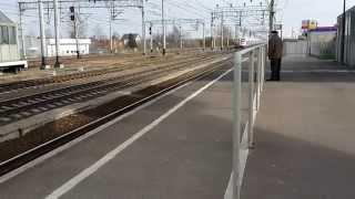 Высокоскоростной поезд САПСАН 200км/ч в тосно, №158А Москва-СПБ.