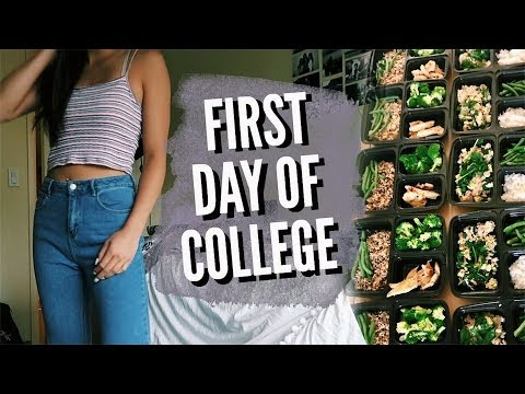 "the first day of a freshman in college The first day of school is always an anxious experience, regardless of whether you're entering elementary school or college there's a lot to take in, a feeling of being the ""new"" guy and the fear of being out of place."