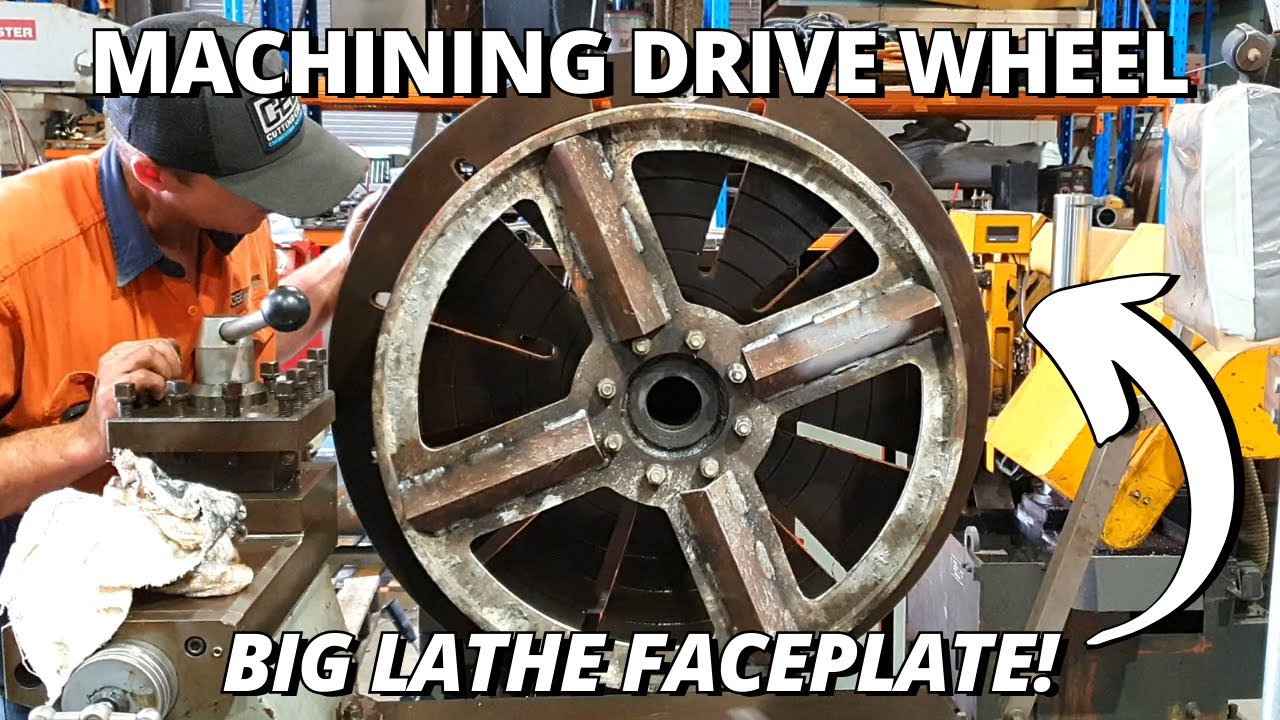 Machining a Polishing Drive Wheel | Using BIG Lathe Faceplate