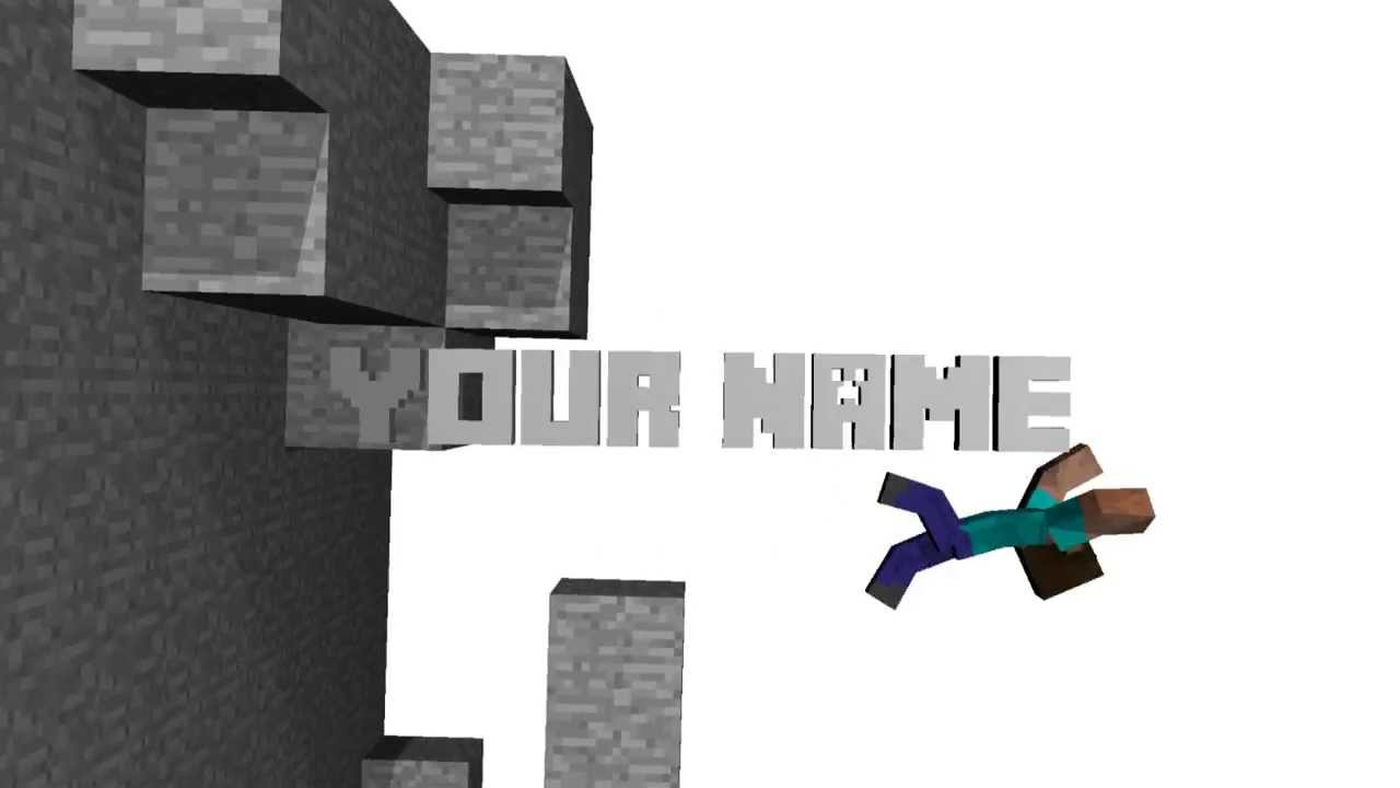 Minecraft Quot Smash Quot Intro Template Blender 2 6 Youtube