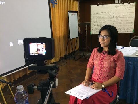 We recently did a training with the Myanmar National Human Rights Commission on how to work with the media, on public relations, identifying key target ...