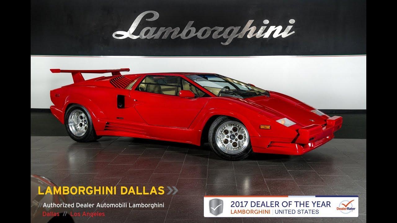 1989 Lamborghini Countach 25th Anniversary Rosso Lc479 Youtube