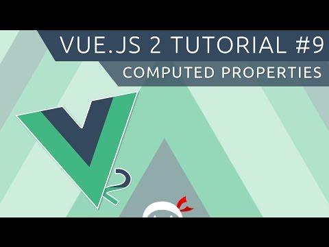 Vue JS 2 Tutorial #9 - Computed Properties