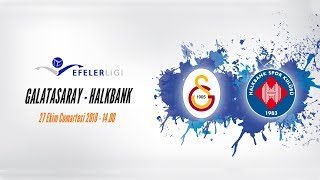 2018 - 2019 Efeler Ligi 3.Hafta Galatasaray - Halkbank