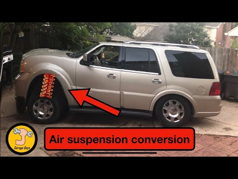 Lincoln Navigator Air Suspension Conversion To Coil Springs / Ford Expedition.