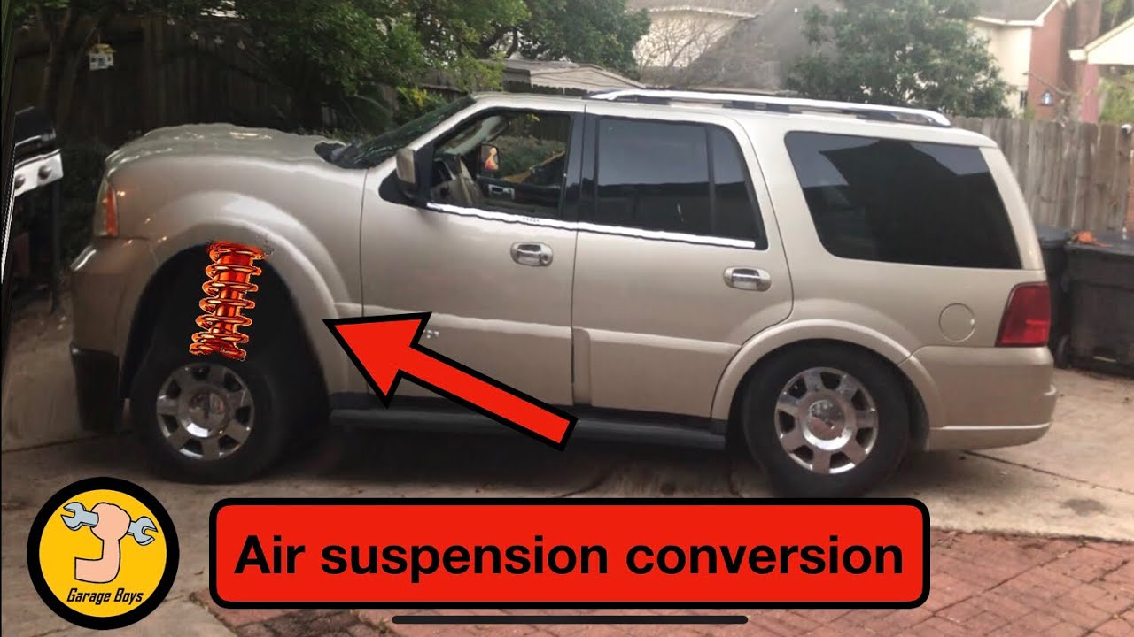 Lincoln Navigator Air Suspension Conversion To Coil Springs Ford Expedition Youtube