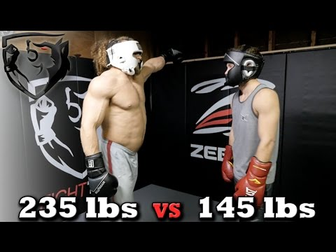 Bodybuilder vs MMA Fighter: Jujimufu Sparring Shane Fazen