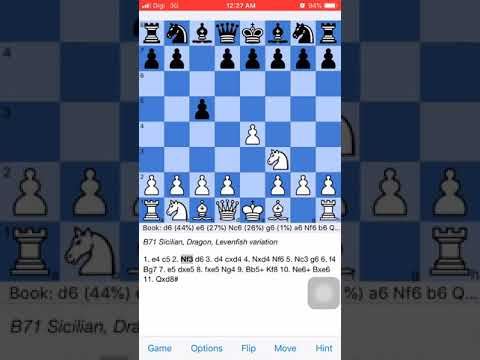 Chess Opening Trap : Sicilian Dragon Levenfish Variation