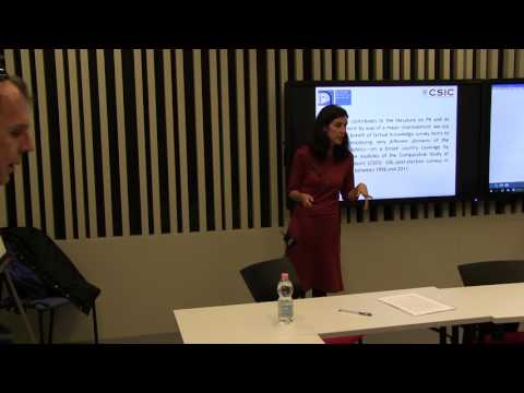 Marta Fraile - What do you know? Political knowledge and its measurement: a comparative analysis