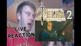 LIVE REACTION - ZELDA: BREATH OF THE WILD SEQUEL CONFIRMED!!