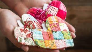 Patchwork Heart Pocket Prayer Quilt Tutorial + FREE Pattern | Shabby Fabrics