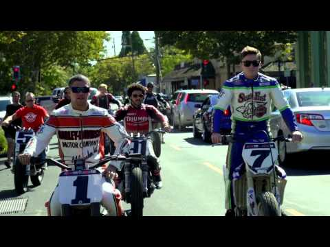 AMA Pro Flat Track Riders Parade Through Wine Country