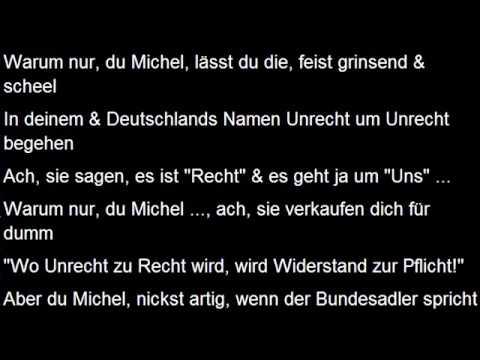 """Warum nur, du Michel ... (""""Wo Unrecht zu Recht wird, ..."""") - Christoph Holzhöfer"""
