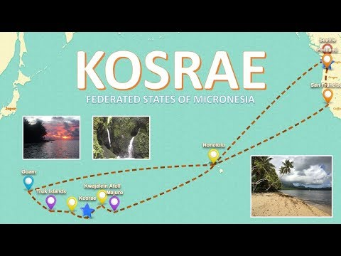 Travel Video from Portland to Kosrae in Federated States of Micronesia