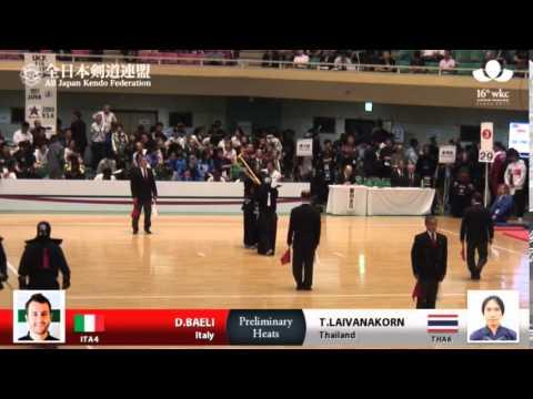 (ITA4)D.BAELI DK- T.LAIVANAKORN(THA6) - 16th World Kendo Championships - Men's Individual
