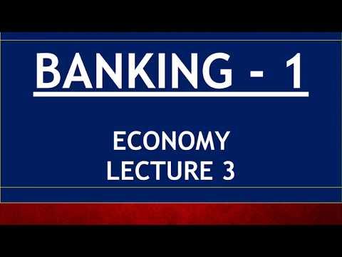 ECONOMY for UPSC - Lecture 3 - Banking Part 1 - CRR, SLR, Repo, Reverse Repo, MSF, OMO, MCLR, RBI
