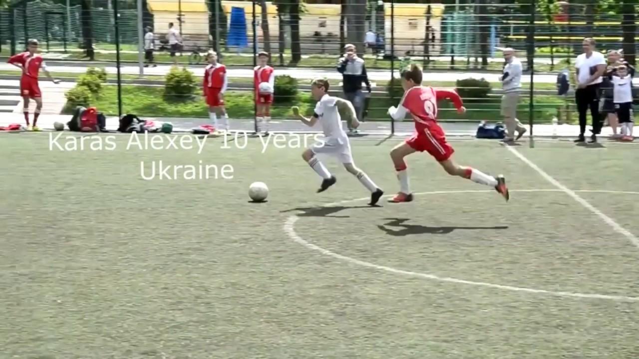 """Гол """"черпачком"""" в исполнении А.Карася(10 лет)."""