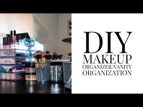 DIY ACRYLIC Makeup Organizer & Vanity Organization | Pre'Knechia Ja'Nae