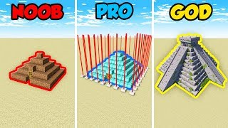 Minecraft NOOB vs. PRO vs. GOD: PYRAMID BASE in Minecraft! (Animation)