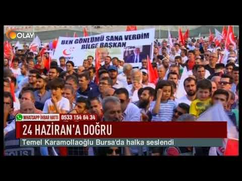 Temel Karamollaoğlu Bursa'da Halka Seslendi