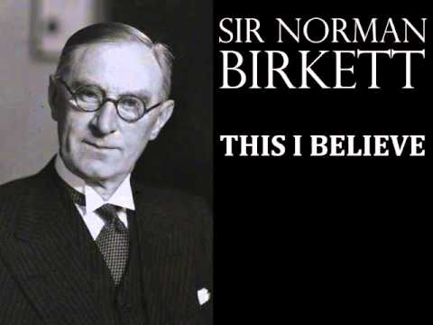 Sir Norman Birkett - This I Believe - 1950s Radio Broadcast