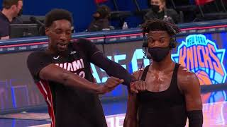 Bam Adebayo Videobombs Jimmy Butler Again - Heat vs Knicks | March 29, 2021