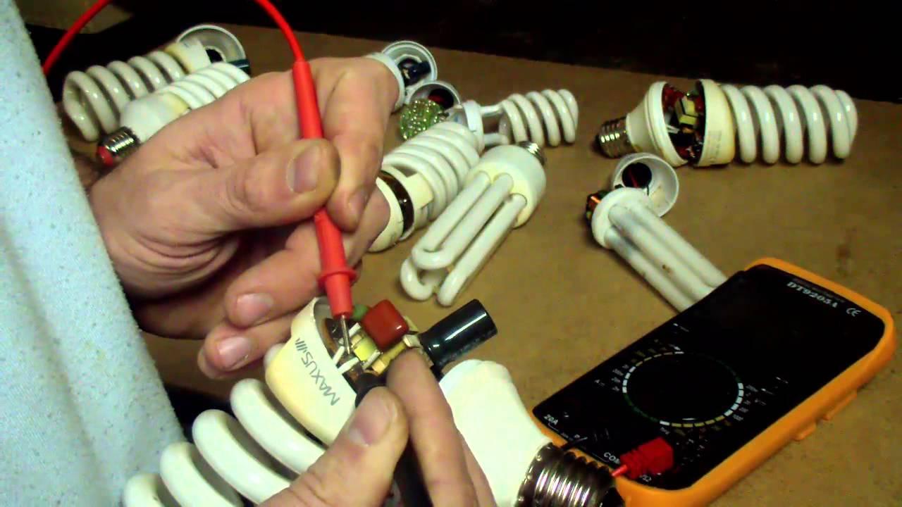 Ремонт энергосберегающей лампы своими руками видео фото 824