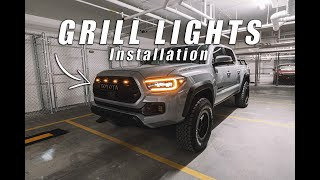 How to Install Tacoma Pro Grill Raptor Lights 2016-2020 Toyota
