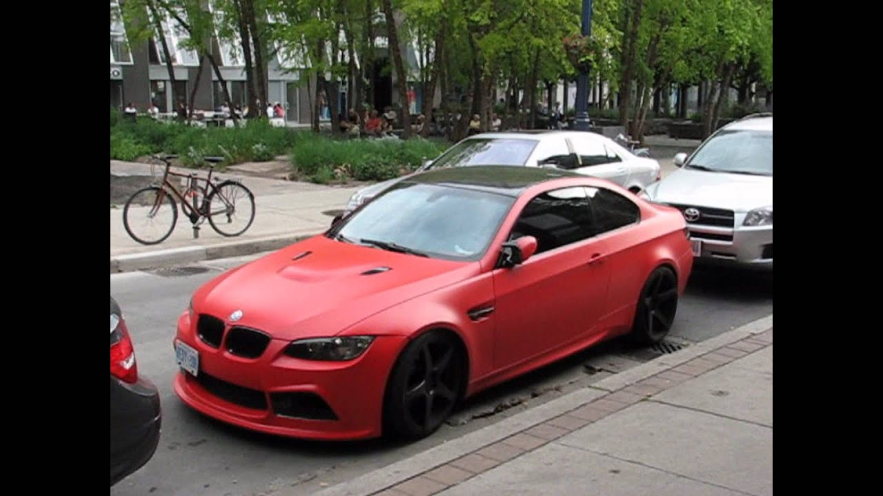 Matte Red Bmw M3 Youtube