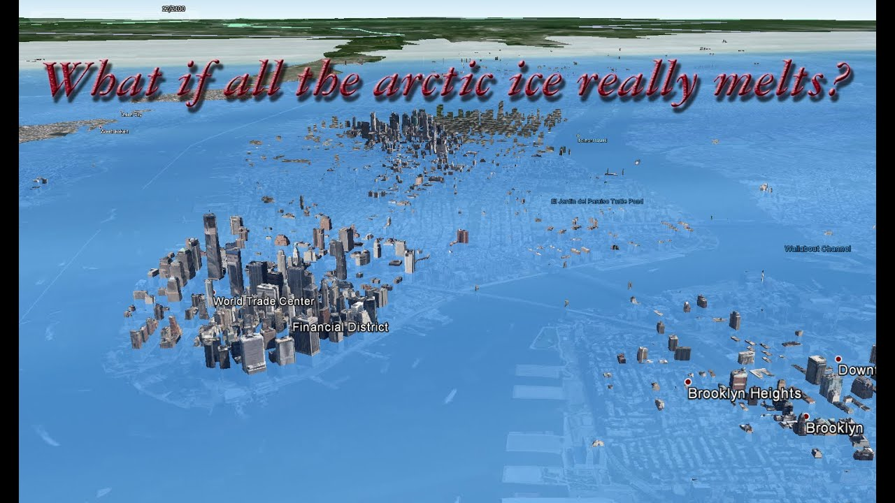 Map Of Us If Ice Caps Melt - Map reveals what the earth would look like if all the polar ice melted 2