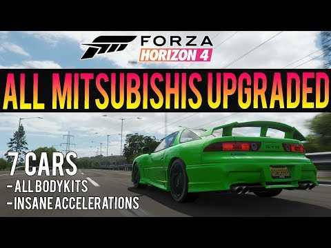 Forza Horizon 4 - All 7 Mitsubishis MAXED OUT! Insane Accelerations + BodyKits! thumbnail