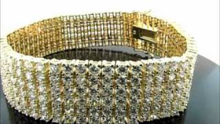 6 Rows Iced Out CZ Bracelet(BRCZ-0609GR) Thumbnail