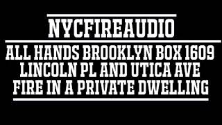 NYCFireAudio -  FDNY Brooklyn All Hands Box 1609 - Fire In A Private Dwelling - 11/7/18