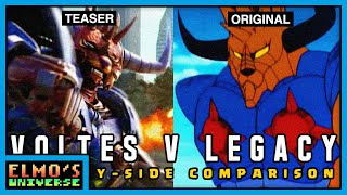 Voltes V Legacy: Let's Volt In! Teaser Trailer 2021 | Side-By-Side Comparison