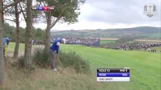 Justin Rose - a bit of Seve Ballesteros at the 2014 Ryder Cup