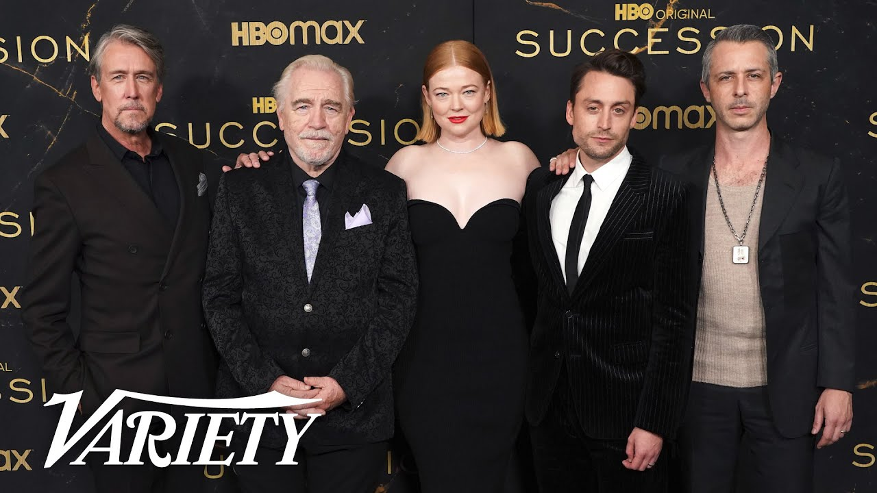 Nicholas Braun, Jeremy Strong, Brian Cox and the cast of 'Succession' on the Red Carpet