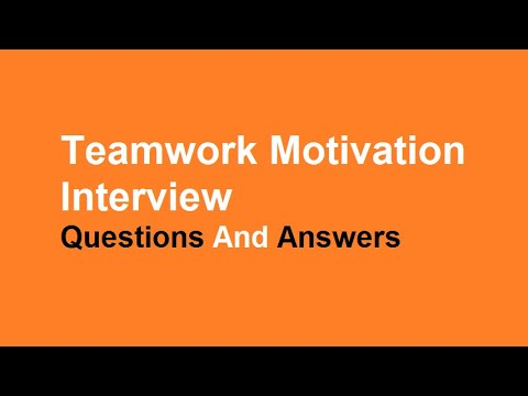 teamwork interview questions and answers youtube