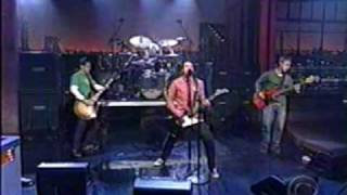 foo fighters with jack black of tenacious d the one live late show with david letterman