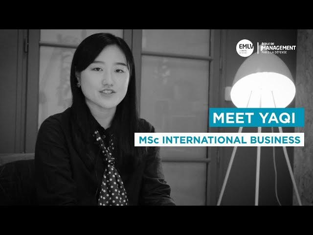 Meet Yaqi, MSc International Business student at EMLV Paris