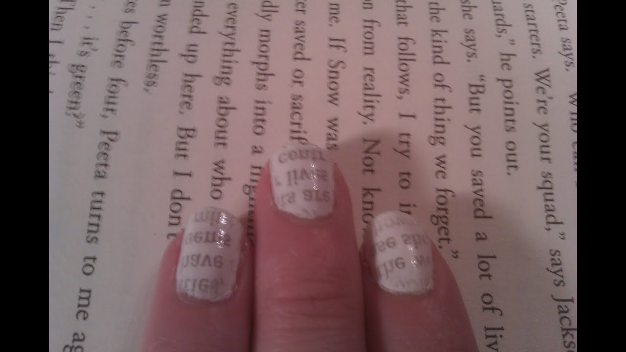 Newspaper nails with water not alcohol youtube prinsesfo Image collections