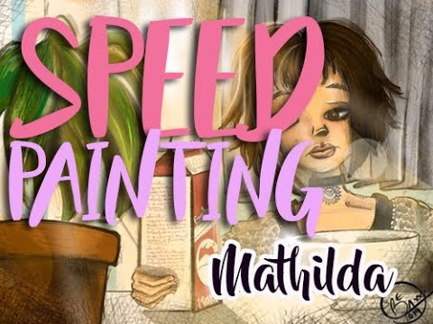 Mathilda fan art speed painting