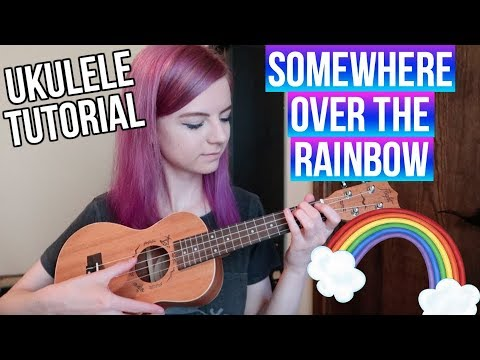 Somewhere Over the Rainbow - IZ | EASY UKULELE TUTORIAL