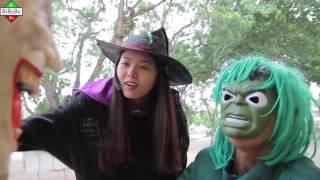 Hulk Batman  fight Spiderman vs Joker Police Maleficent kidnapped Frozen Elsa Anna