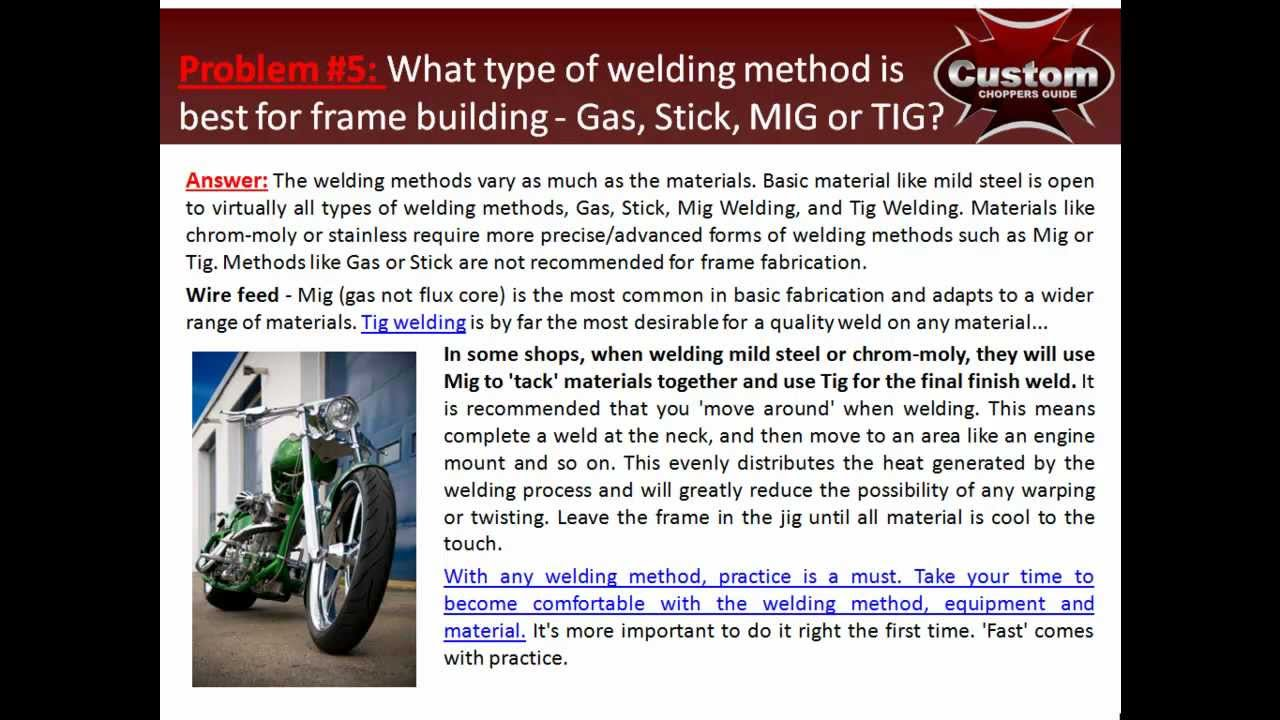 9 Motorcycle Frame Building Mistakes! - YouTube