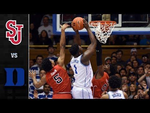St. John's Vs. Duke Basketball Highlights (2018-19)